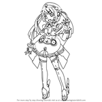 How to Draw Tone Rion from Vocaloid