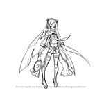 How to Draw Zhanyin Lorra from Vocaloid