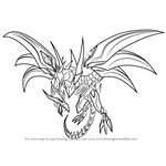 How to Draw Red-Eyes Black Dragon from Yu-Gi-Oh! Official Card Game