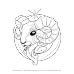 How to Draw Aries Zodiac Sign