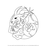 How to Draw Capricorn Zodiac Sign
