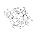 How to Draw Pisces Zodiac Sign