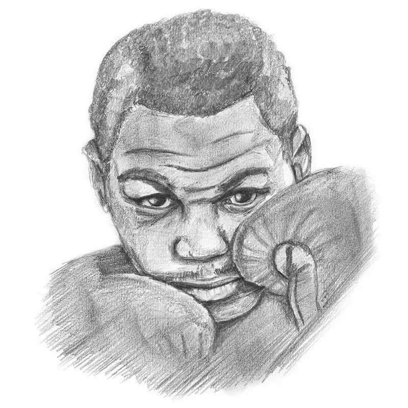 Pencil Sketch of Mike Tyson - Pencil Drawing