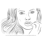 How to Draw Adriana Lima