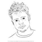 How to Draw Brad Pitt