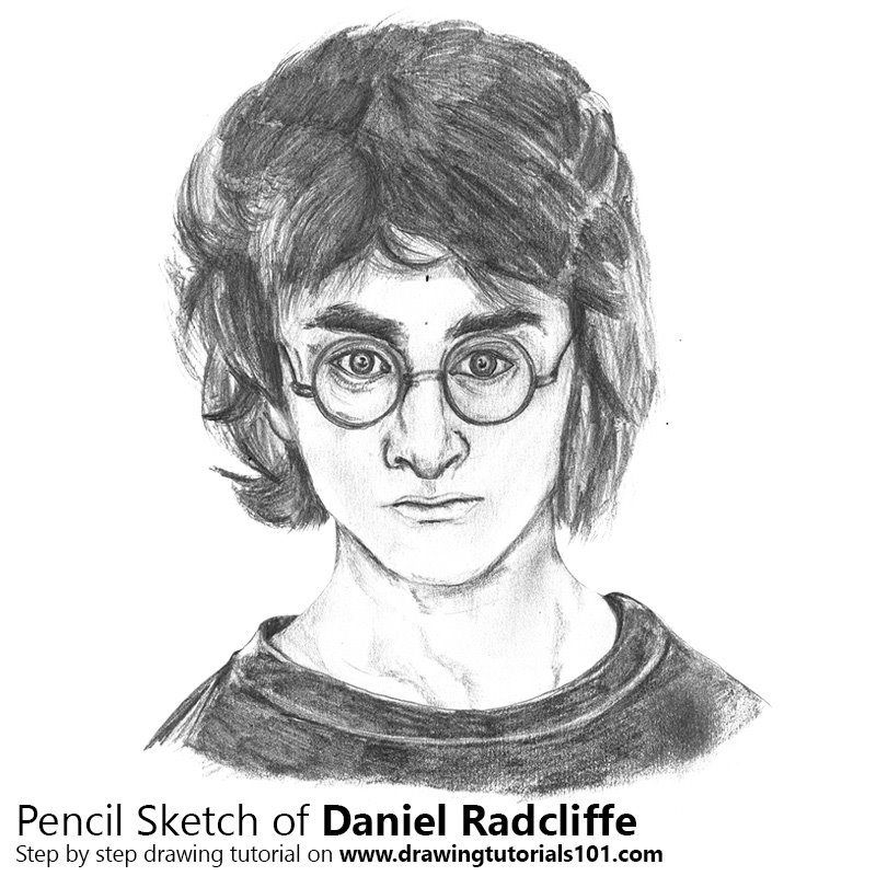 Pencil Sketch of Daniel Radcliffe - Pencil Drawing