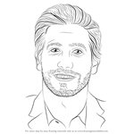 How to Draw Jake Gyllenhaal