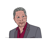 How to Draw Morgan Freeman