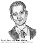 How to Draw Paul Walker