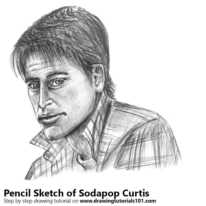 Pencil Sketch of Sodapop Curtis from The Outsiders - Pencil Drawing