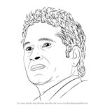 How to Draw Sachin Tendulkar