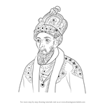 How to Draw Bahadur Shah Zafar