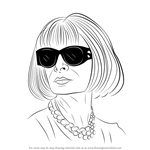How to Draw Anna Wintour