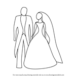 How to Draw Bride and Groom for Kids
