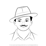 How to Draw Chandra Shekhar Azad
