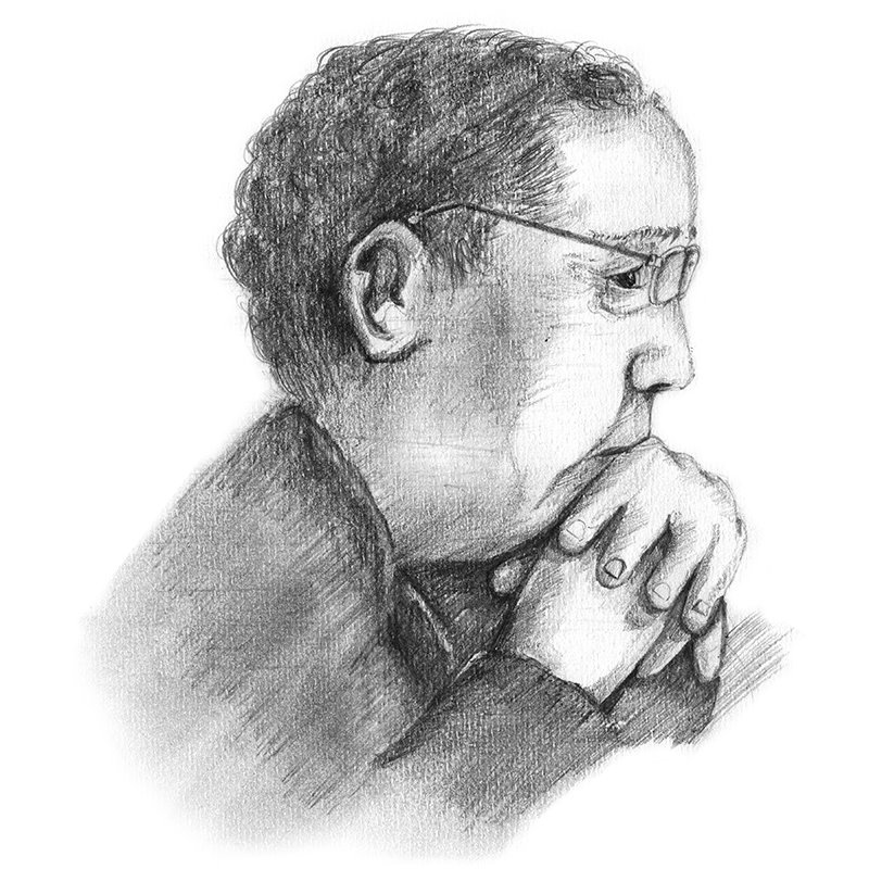 Pencil Sketch of James Patterson - Pencil Drawing
