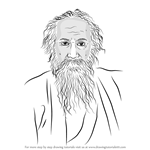 How to Draw Rabindranath Tagore