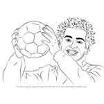 How to Draw Mohamed Salah