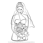 How to Draw a Bride with Flowers