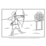 How to Draw an Archer Shooting Scene