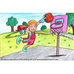 How to Draw a Basket Ball Player for Kids