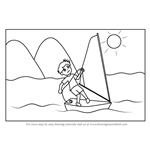 How to Draw a Boy Sailing Scene