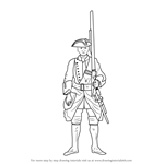How to Draw British Soldier