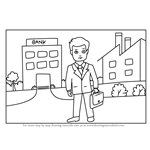 How to Draw a Businessmen with Briefcase Scene