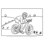 How to Draw a Cyclist Scene