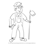 How to Draw a Farmer for Kids