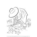 How to Draw a Farmer in Action