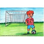 How to Draw a Goal Keeper for Kids
