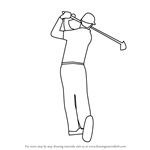 How to Draw a Golf Player