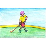 How to Draw a Hockey Player Scene