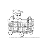 How to Draw a Baby in basket