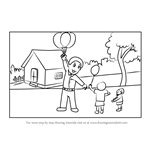 How to Draw a Balloon Man