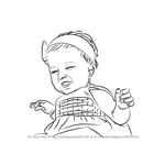 How to Draw Happy Baby Girl