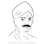 How to Draw Mangal Pandey