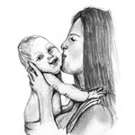 How to Draw Mother Kissing Baby