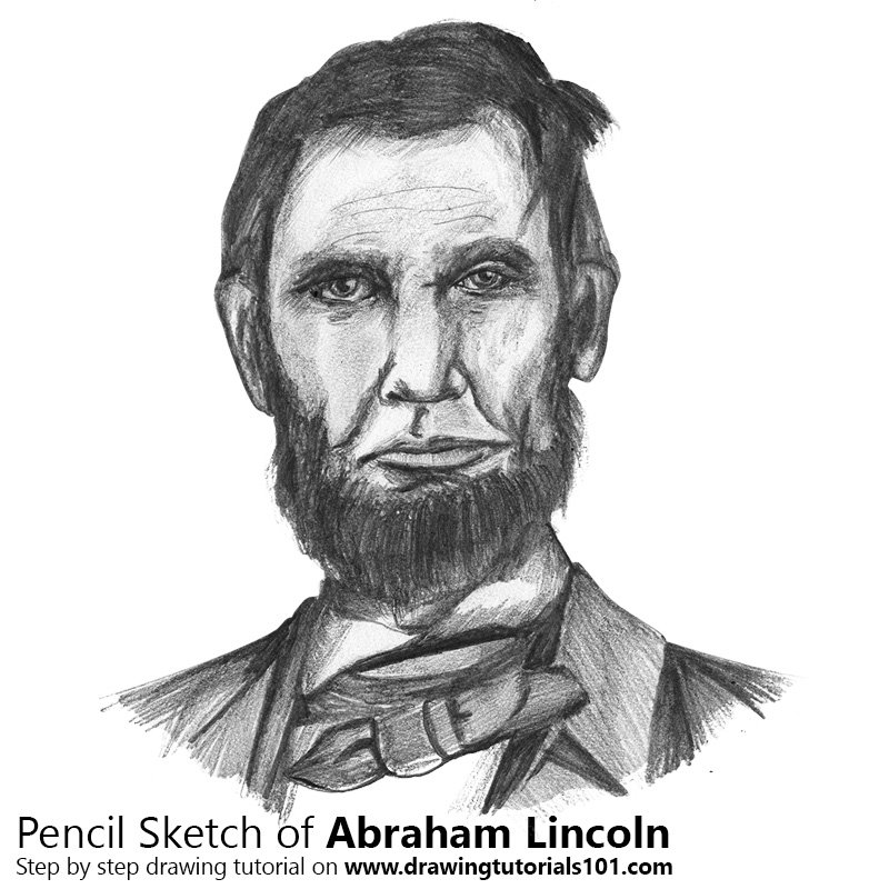 Pencil Sketch of Abraham Lincoln - Pencil Drawing