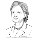 How to Draw Hilary Clinton