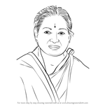 How to Draw Jayalalithaa