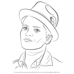 How to Draw Bruno Mars