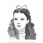 How to Draw Judy Garland