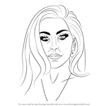 How to Draw Lady Gaga