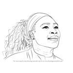 How to Draw Serena Williams