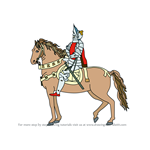 How to Draw a Knight on Horse