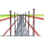How to Draw One Point Perspective Bridge
