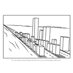 How to Draw One Point Perspective Cityscape