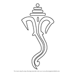 How to Draw Ganpati with Lines